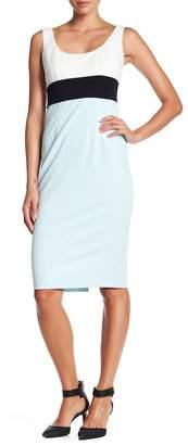 Donna Morgan Scoop Neck Colorblock Dress