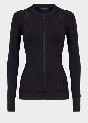 Versace Mesh Insert Zip Sweatshirt