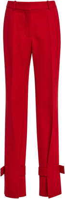 Victoria Beckham Wrapped-Ankle Wide-Leg Trousers
