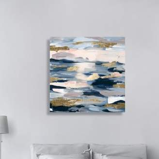 Mercury Row 'Smoke on the Water Abstract Art' Wrapped Canvas Print