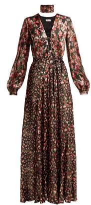 Raquel Diniz - Geena Silk Maxi Dress - Womens - Black Red