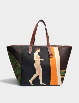 J.W.Anderson Belt Tote Bag in Multicolor Printed Cotton