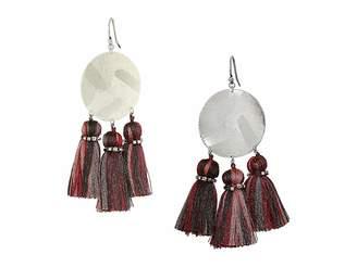 Chan Luu Red Mix Tassel Earrings
