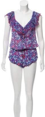 Poupette Floral Button-Up Romper