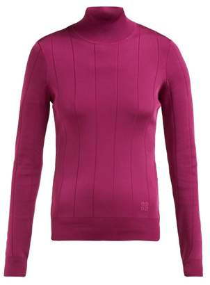 Givenchy High Neck Stretch Knit Top - Womens - Pink