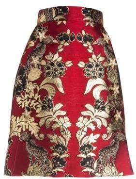 Dolce & Gabbana Silk-Blend Jacquard A-Line Skirt