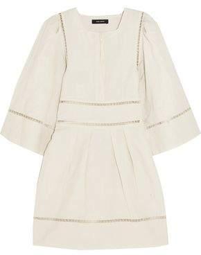 Isabel Marant Reone Lattice-Trimmed Linen And Cotton-Blend Mini Dress