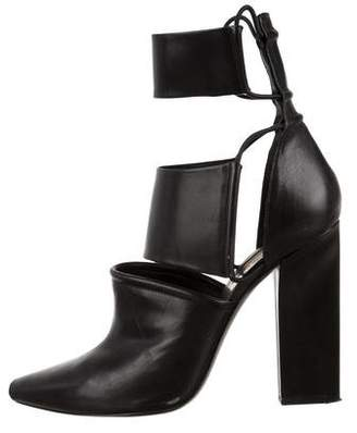 Alexander Wang Leather Pointed-Toe Ankle Boots
