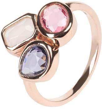 Latelita London - Venice Multi Gemstone Ring Rosegold