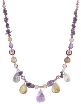 Lord & Taylor Beaded Stone Necklace