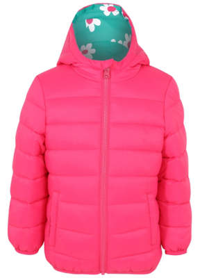 George Turquoise Reversible Shower Resistant Packable Padded Jacket