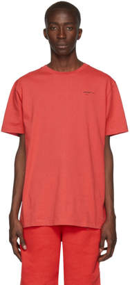 Off-White Off White Red Logo Slim T-Shirt
