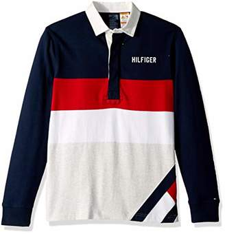 Tommy Hilfiger Adaptive Men's Rugby Shirt with Magnetic Buttons Custom Fit
