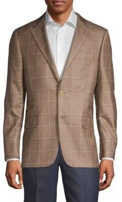 Hickey Freeman Milburn II Regular-Fit Silk & Cashmere Sportcoat