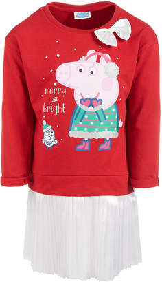 Peppa Pig Toddler Girls Layered-Look Holiday Tutu Dress