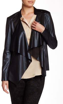 Insight Cracked Faux Leather & Faux Suede Jacket