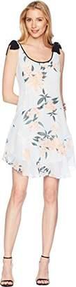 Donna Morgan Women's Contrast Tie Drop-Waist Dress