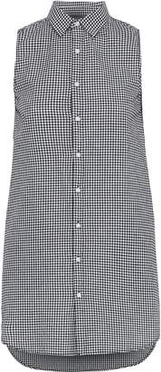 Onia Kaylee Gingham Cotton-poplin Mini Shirt Dress