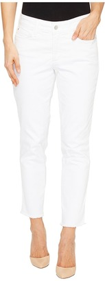 NYDJ - Alina Ankle w/ Fray Hem in Optic White Women's Jeans $114 thestylecure.com