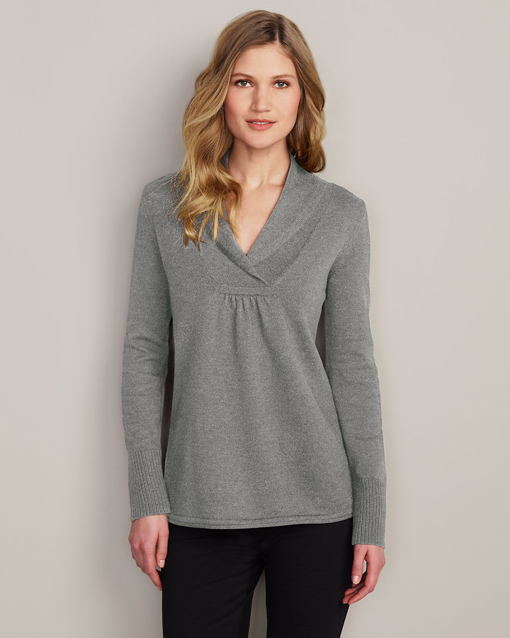 Eddie Bauer Shawl Collar Sweatshirt Sweater