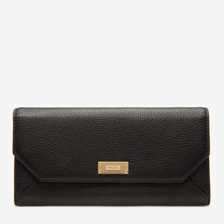Bally Linney Suzy Black, Women's grained bovine continental leather wallet in black