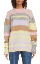 Acne Studios Kalbah Stripe Wool & Mohair Blend Sweater