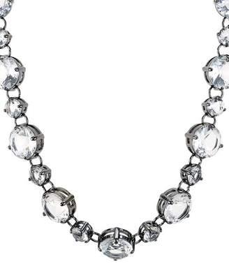 "Aqua Crystal Statement Necklace, 16"" - 100% Exclusive"