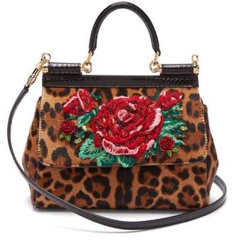 6554a7be98 Dolce   Gabbana Leopard Print Sicily Cross Body Bag - Womens - Leopard