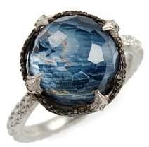 Armenta New World Semiprecious Stone & Diamond Scalloped Ring