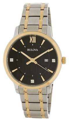 Bulova Men's Two-Tone Diamond Dial Bracelet Watch, 40mm\n