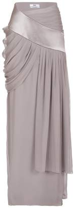 Prabal Gurung Chiffon Drape Evening Skirt