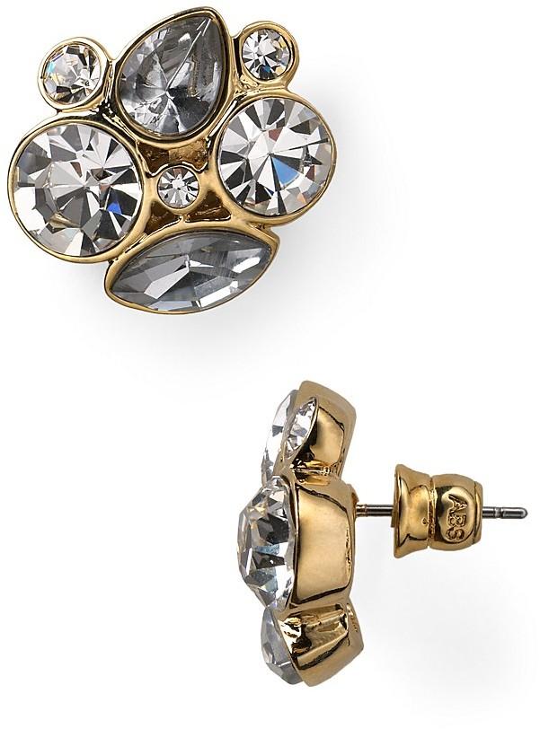 ABS by Allen Schwartz Cluster Stud Earrings