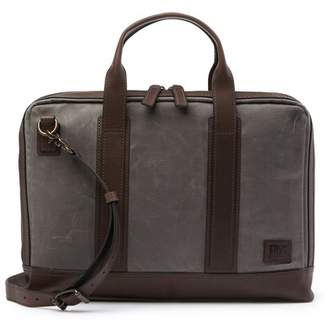 Frye Carter Leather Trimmed Slim Briefcase