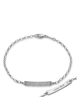 Monica Rich Kosann Petite Poesy Diamond ID Bracelet in 18K White Gold