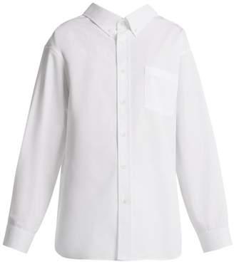 Balenciaga Swing Cotton Shirt - Womens - White