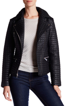 DL2 Marley Quilted Genuine Leather Jacket $620 thestylecure.com