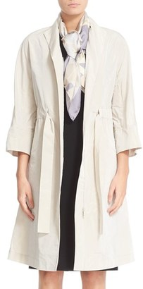 Women's Lafayette 148 New York Cristalyn Triboro Tech Cloth Trench $798 thestylecure.com