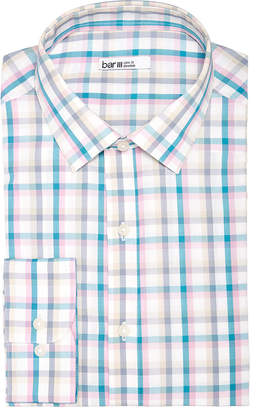 Bar III Men Slim-Fit Stretch Easy-Care Double Multi Check Dress Shirt