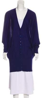 Halston Oversize Lightweight Cardigan Blue Oversize Lightweight Cardigan