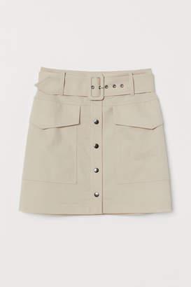 H&M Utility Skirt - Beige