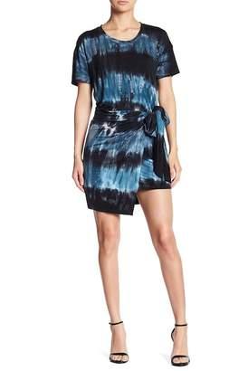 Young Fabulous & Broke Pamela Wrap Skirt Tie Dye T-Shirt Dress