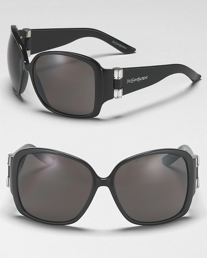 Yves Saint Laurent Large Plastic Sunglasses