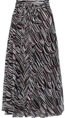 Giambattista Valli Belted Printed Silk-chiffon Skirt