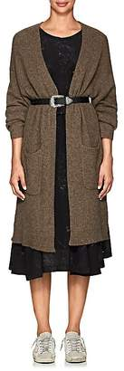 Pas De Calais Women's Yak Wool Long V-Neck Cardigan