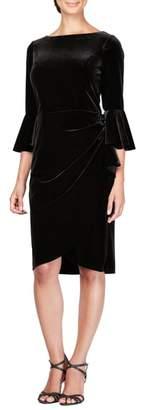 Alex Evenings Bell Sleeve Velvet Dress