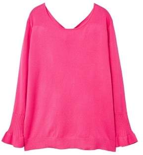 Violeta BY MANGO Ruffled sleeve sweater