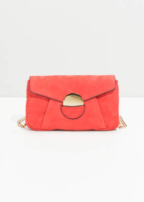 And other stories Circle Detail Leather Mini Bag