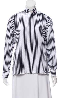 Chanel Striped Button-Up Top