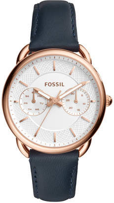 Fossil Women's Tailor Navy Leather Strap Watch 35mm