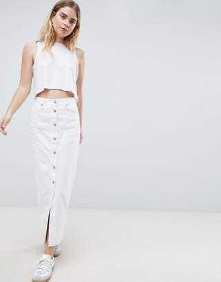 Dr. Denim Button Through Denim Skirt